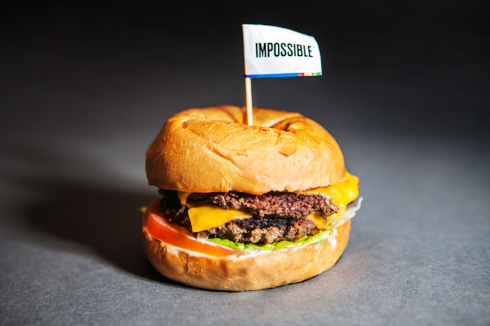 Photo of the Impossible Burger... looks like meat, tastes like meat, made from plants