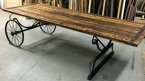 Photo of a door-turned-table from the show Money for Nothing